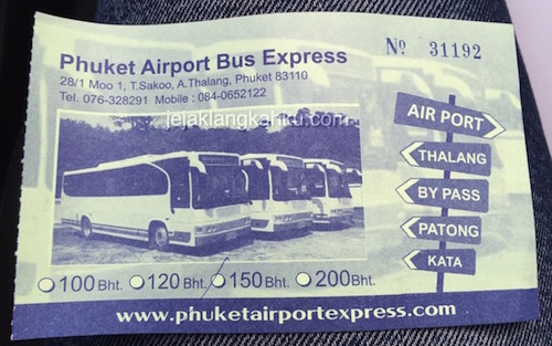 airport bus express phuket ticket