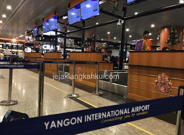 Selamat Datang di Yangon International Airport Myanmar, Burma