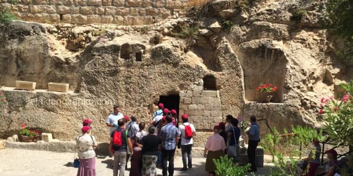 "Garden Tomb Yerusalem Israel : ""He is not here, for He is risen"""