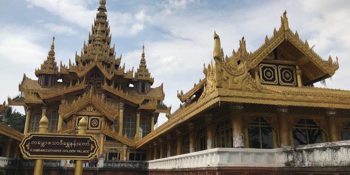 Berselimutkan Emas di Kambawzathadi Golden Palace, Bago Myanmar